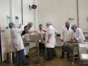 A group of students at one of West Highland Dairy's cheese-making courses.